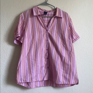 Pink Button Blouse